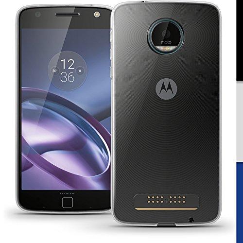 igadgitz Transparente Claro Lustroso Funda Carcasa Gel TPU para Motorola Moto Z...