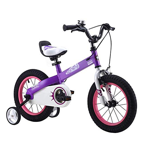 CÄKO Mini Bikes Kids Bike Children Es Bike Outdoor Outdoor Outing In Many Size Optional Purple-White (18 Zoll)