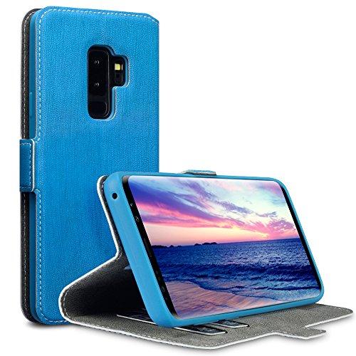 Coque Samsung S9 Plus, Terrapin Étui Housse en Cuir Ultra-mince Avec La Fonction Stand pour Samsung Galaxy S9 Plus Étui