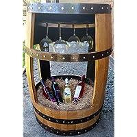Cheeky Chicks El Charlotte Reciclado Whisky Barril Mesa para Bebidas con Soporte de Cristal