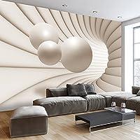 Vlies Fototapete 300x210 cm - 3 Farben zur Auswahl - Top - Tapete - Wandbilder XXL - Wandbild - Bild - Fototapeten - Tapeten - Wandtapete - Wand - Kugel Abstrakt 3D a-A-0154-a-b