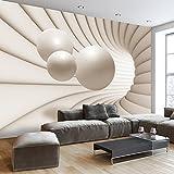 murando - Fototapete 400x280 cm - Vlies Tapete - Moderne Wanddeko - Design Tapete - Wandtapete - Wand Dekoration - Kugel Abstrakt 3D a-A-0154-a-b