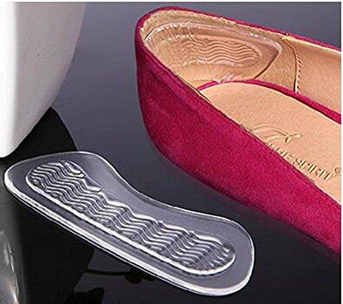 Ferse grips-3Paar Silikon Transparent Selbstklebend Soft Foot Care Displayschutzfolie Einlegesohle rutschsicher Ferse Schuhe Rückseite Schaumstoff Pads Paar