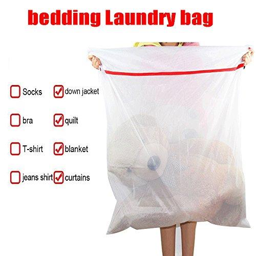 YesMae Wäschenetze für Waschmaschine Wäschetasche XXL mit Reißverschluss Wäschenetz Groß Wäschesack für Bettzeug Rechteck Wäsche Netz Polyester Wäschesäcke Laundry Bag Aufbewahrungstasche