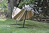 Vivere Doppel Sunbrella Hängematte mit Hängemattengestell 280 cm, Limelight - 4