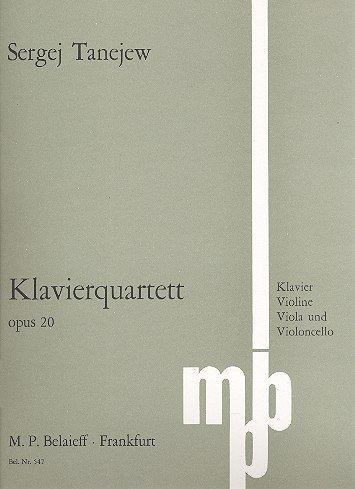 Klavierquartett: op. 20. Klavierquartett. Spielpartitur. (Contemporary Security Studies)