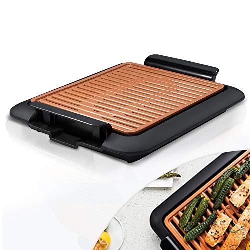 Mediashop Livington Smokeless Grill Tischgrill rauchfrei Indoor Griller BBQ inkl. Grillrost Fettauffangschale | Das Original aus dem TV