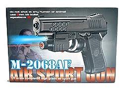 ABTRIX AIR SPORTS LASER GUN RED LASER & BLUE LIGHT PISTOL WITH BULLET TOY