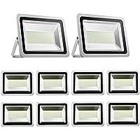 Foco LED 300W Blanco frío 6500K /Blanco cálido 3500K , Proyector LED Exteriores Floodlight Led Foco Proyector Led para Exterior Iluminación Decoración IP65 (10X, Blanco frío)