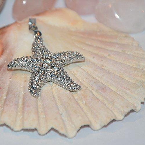 Eyecatcher Seestern Magnet Kettenanhänger SABO Atlantis Design Starfish Energetix 4you 3536 Magnetanhänger handveredelt mit Swarovski® Elements