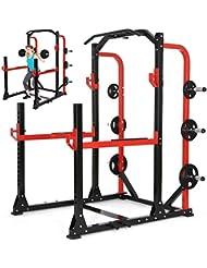 Physionics - Aparato de fitness multifunción - máquina de gimnasio para sentadillas, dominadas, dips y otros ejercicios