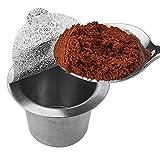 Acier inoxydable 304 Tasse K réutilisable pour Keurig filtre à café Brewers rechargeable 2.0 et 1.0 Machines à café Compatible (Foil Seals)