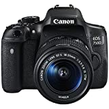 #5: Canon EOS 750D 24.2MP Digital SLR Camera Black with 18-55 IS STM Lens with 8GB Memory Card and Carry Bag