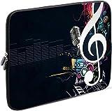 Sidorenko Laptop Tasche für 14-14,2 Zoll | Universal Notebooktasche Schutzhülle | Laptoptasche aus Neopren, PC Computer Hülle Sleeve Case Etui, Schwarz