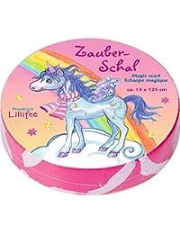 Bufanda Magica de la Princesa Lillifee con Unicornio. Color rosa. (Aprox. 15 x 125 cm)