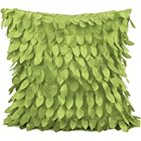 Gespout 1 Pcs Plain Colour Cotton Pillow Cases Cover Oil Painted Linen Cushion Cover for Car Home Sofa Decor,45 45cm,Vert
