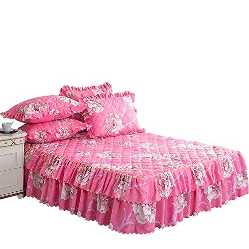 WENXIAOXU Staubdichte Anti-Milben-schoner für Home Schlafzimmer Bettlaken,Der optimale und perfekte bezug für Ihr Bett,Gepolsterter Baumwollbettrock B-10 180 * 200 * 45cm