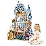 KidKraft 65400 Disney Prinzessin Cinderella Aschenputtel Royal Dream Puppenhaus aus Holz mit Zubehör für 30cm große Puppen mit 12 Accessoires und 4 Spielebenen