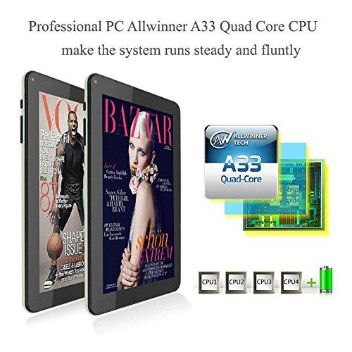 Auntwhale N98 9 Inch Android 4 4 Tablet PC Allwinner A33 Quad Core 1GB 16GB 800x480 WiFi W  Mic EU Plug