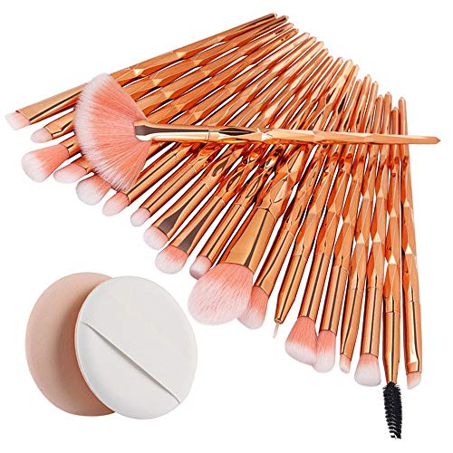 Kimdera 20pcs Kosmetik Pinsel Make-up Pinsel Sets Verfassungs Bürsten Sat Kosmetik Komplett Eye Kit...
