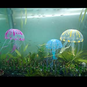 Fly shop 3 pezzi ornamenti di aquario meduse artificiale for Cucinare meduse