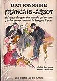 Dictionnaire thématique français-argot