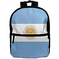 ChunLei Mochila Escolar para niños con Bandera de Argentina Divertida Mochila de Viaje para niños Estudiantes