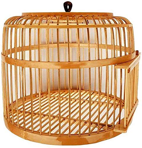 XWYGW Haustierbett Papageien-Käfig im Freien Vogelzuchtkäfig Bambus Vogelgepäckträger Classic Upgrade-Durable Indoor-Vogelkäfig, Geeignet for Parrot/Vogel -