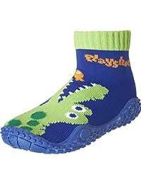 Playshoes Aquasocke Krokodil, Zapatos de Playa y Piscina Unisex Niños