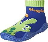 Playshoes Unisex-Kinder Aquasocke Krokodil Badeschuhe, Blau (Marine), 20/21 EU