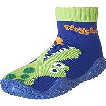 Playshoes Unisex Kid's Aqua Socks with UV Protection Crocodile Water Shoes, Blue Navy 11, 9 UK Child 26/27 EU
