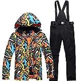 Combinaison de Ski Homme Veste Pantalon, Ski Doudoune Chaude Imperméable Adulte...