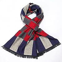 Los hombres y los hombres de Invierno bufanda bufanda gruesa moda plaid Scarf