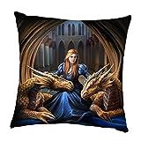 Fierce Loyalität–Fantasy Gothic Dragon Kissen von anne Stokes