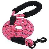 DYYTR Pet Products Hundeleine für kleine große Hunde Leinen reflektierende Hundeleine Seil Haustiere führen Hundehalsband Harness Nylon Laufleinen,pink