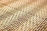 Sellon24 Polyrattan Balkonverkleidung Sichtschutz Balkonsichtschutz anthrazit braun weiß schwarz Kupfer grün Meterware Balkonbespannung 17,49€ / Quadratmeter (H 90cm, RD08 - Stroh)