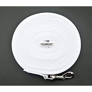 100ft 30m Dog Training Lead Large (25mm) In Various Colours (White) (CPM) Manufatured And Sold By Church Products UK Only 100ft 30m Dog Training Lead Large (25mm) In Various Colours (White) (CPM) Manufatured And Sold By Church Products UK Only 517iFfuhT6L