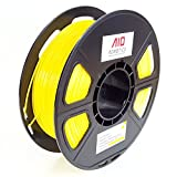 AIO Robotics Premium 3D Drucker Filament, PLA, 0,5 kg Spule, Genauigkeit +/- 0,02 mm, Durchmesser 1,75 mm, Gelb