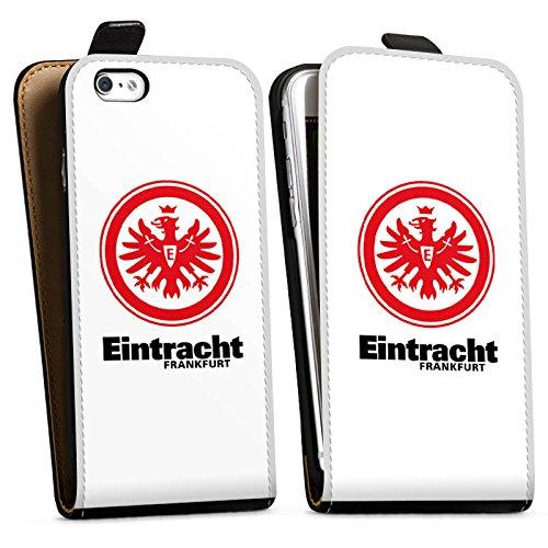 Apple iPhone SE Tasche Hülle Flip Case Eintracht Frankfurt Fanartikel Fußball Downflip Tasche schwarz