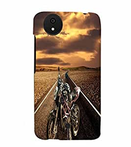 PrintVisa Sports Bike 3D Hard Polycarbonate Designer Back Case Cover for Micromax Canvas Android A1
