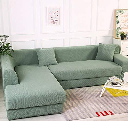 Funda elástica para sofá de verde 1/2/3/4 plazas Color sólido universal todo...