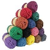 maDDma ® 500g Filzwolle, 500g Filzwolle in 26 Farben erhältlich, Waschfilzen Strickfilzen, Farbe:Farbmix 1