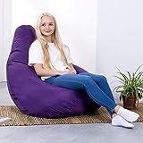 Hi-BagZ®, Sitzsack mit hoher Rückenlehne, für den Garten, Violett, 100% wasserabweisend
