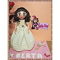 Fofucha de primera Comunión niña vestido Rosa Clará