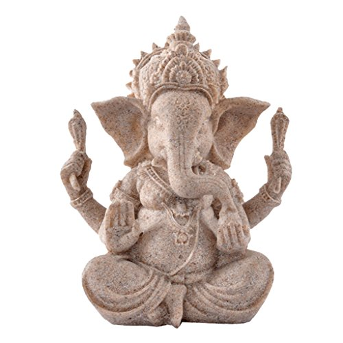 Estatua de Arenisca Ganesha Estatuilla escultura...