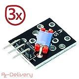 AZDelivery ⭐⭐⭐⭐⭐ Juego de 3 Ky de 020 Interruptor de Inclinación Shake Schock Sensor sacudido Sensor para Arduino