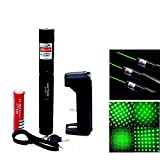 #7: SHOPEE Branded New 532nm SD 100 mw 303 Focus Green Laser Adjustable Pointer with 18650 Battery and Charger