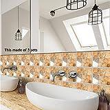 JY ART Y Wand-Aufkleber Küche Deko Badezimmer-Gestaltung - Küchen-Fliesen überkleben - Dekorative Bad-Gestaltung - Fliesen-Aufkleber - 20*20cm*10pcs,TS030, 20cm*20cm