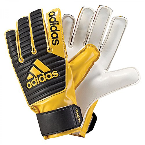 adidas Kinder Classic Junior Torwarthandschuhe, Core Black/Eqt Yellow s16, 5