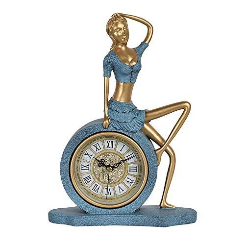 ZJP-dzsw Reloj de Mesa Reloj de sobremesa Retro Europeo Salón ...